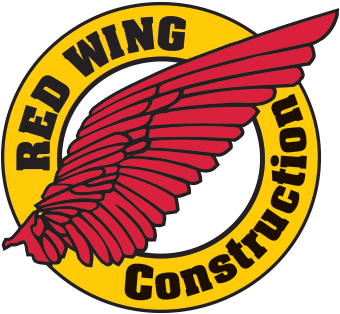 Red Wing Construction Company Retina Logo